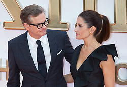 Colin Firth and Livia Firth attend the World Premiere of Kingsman: The Golden Circle Arrivals at The Odeon in Leicester Square in London on 18 September 2017.<br /><br />18 September 2017.<br /><br />Please byline: Vantagenews.com