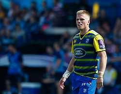 Cardiff Blues' Gareth Anscombe<br /> <br /> Photographer Simon King/Replay Images<br /> <br /> European Rugby Challenge Cup - Semi Final - Cardiff Blues v Pau - Saturday 21st April 2018 - Cardiff Arms Park - Cardiff<br /> <br /> World Copyright © Replay Images . All rights reserved. info@replayimages.co.uk - http://replayimages.co.uk