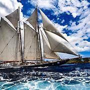 Columbia. 141 ft classic class A, Schooner