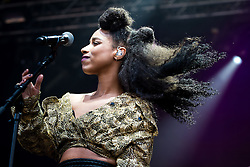 """© Licensed to London News Pictures . 02/07/2015 . Manchester , UK . LIANNE LA HAVAS performs at the Castlefield Bowl at the opening of """" Summer in the City """" festival in Manchester. Photo credit : Joel Goodman/LNP"""