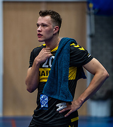 Jeffrey Klok of Dynamo in action during the cup final between Amysoft Lycurgus vs. Draisma Dynamo on April 18, 2021 in sports hall Alfa College in Groningen