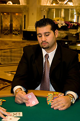 Nevada, Caesars Palace and Casino, gaming, gambling, poker, poker player, model released, NV, Las Vegas, Photo nv214-18000..Copyright: Lee Foster, www.fostertravel.com, 510-549-2202,lee@fostertravel.com
