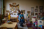Amanda Zilka and her son Jaxon Eason, 4, for the Community Foundation of Louisville.