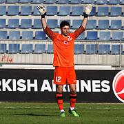 Turkey's goalkeeper Cenk GONEN during their international friendly soccer match Turkey A2 betwen Finland A2 at Recep Tayyip Erdogan stadium in Istanbul March 25, 2011. Photo by TURKPIX