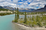 Saskatchewan River Crossing on the Icefields Parkway, Jasper National Park, Canada.