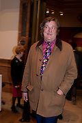 STEPHEN FRY;  Opening of David Hockney ' A Bigger Picture' Royal Academy. Piccadilly. London. 17 January 2012