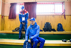 February 9, 2018 - Pyeongchang, SOUTH KOREA - 180209 Anders Fannemel and Robert Johansson of Norway during a press event with the Norwegian men's ski jumping team during the 2018 Winter Olympics on February 9, 2018 in Pyeongchang..Photo: Jon Olav Nesvold / BILDBYRN / kod JE / 160148 (Credit Image: © Jon Olav Nesvold/Bildbyran via ZUMA Press)