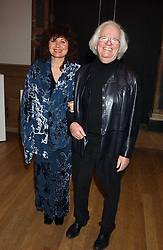 KEN HOWARD RA and his wife DORA HOWARD at an exhibition of art entitled 'Royal Academicians in China: 2003-2005' held at the Royal Academy of Arts, Burlington House, Piccadilly, London on 11th January 2005.<br />
