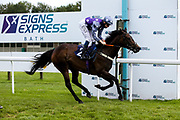 Buy Me Back ridden by Callum Shepherd and trained by Mark Loughnane in the Signs Express Fillies Handicap - Mandatory by-line: Robbie Stephenson/JMP - 18/07/2020 - HORSE RACING- Bath Racecourse - Bath, England - Bath Races 18/07/20