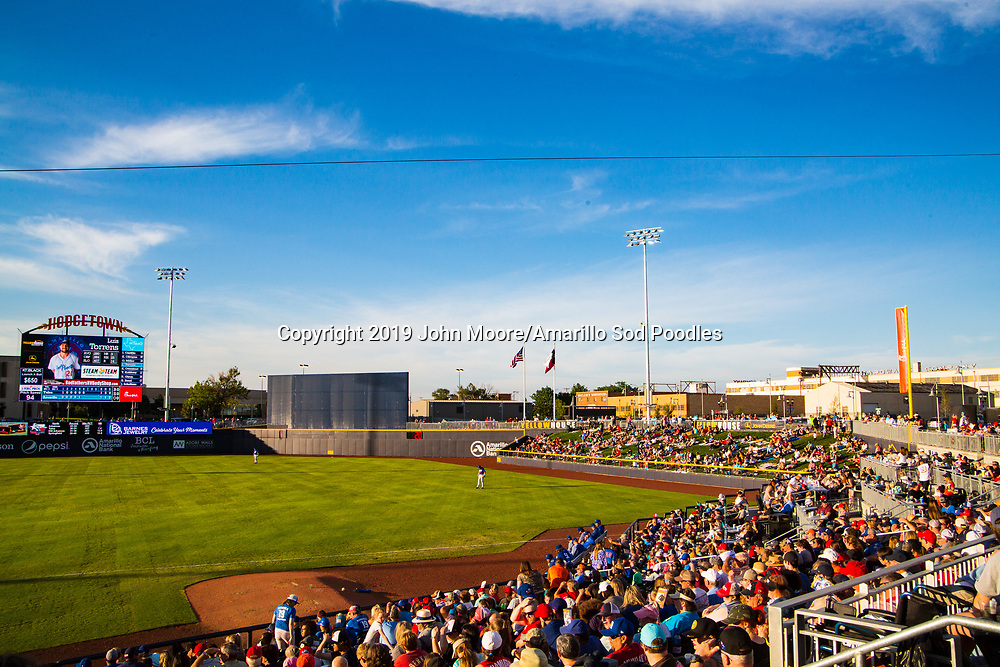 The Amarillo Sod Poodles played against the Tulsa Drillers on Sunday, June 16, 2019, at HODGETOWN in Amarillo, Texas. [Photo by John Moore/Amarillo Sod Poodles]