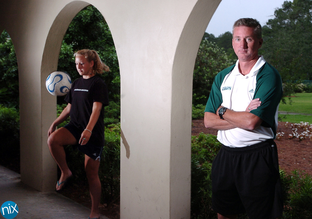 Frederica Academy girls soccer coach Charlie Morgan and leading scorer junior Rachel Shelnutt are going for their third straight state championship together.