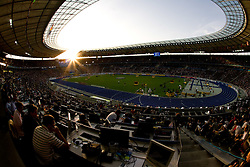 Media area at the Olympic stadium at the 2009 IAAF Athletics World Championships on August 15, 2009 in Berlin, Germany. (Photo by Vid Ponikvar / Sportida)