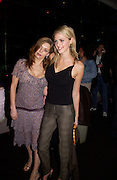 Jemima French and Donna Air, 6 Degrees charity event in aid of Focus councelling services. Kensington Roof Garden, 19 April 2004. ONE TIME USE ONLY - DO NOT ARCHIVE  © Copyright Photograph by Dafydd Jones 66 Stockwell Park Rd. London SW9 0DA Tel 020 7733 0108 www.dafjones.com