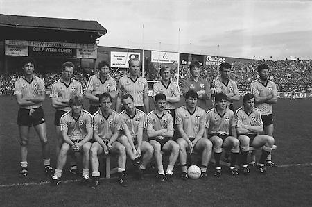All Ireland Senior Football Championship Final, Kerry v Dublin, 22.09.1985, 09.22.1985, 22nd September 1985, 22091985AISFCF, Kerry 2-12 Dublin 2-08, Dublin, J O'Leary, M Kennedy, G Hargan, R Hazley, P Canavan, N McCaffrey, D Synnott, J Roynane, B Mullins (capt), B Rock,  T Conroy, C Redmond, J Kearns, J McNally, K Duff. Subs T Carr for Redmond, P J Buckley for B. Mullins,