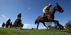Prince Garyantle ridden by Adam Short (right) on the way to winning the Adare Manor Opportunity Series Final Handicap Hurdle during day two of the Punchestown Festival 2018 at Punchestown Racecourse, County Kildare.