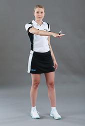 Umpire Jemma Carlton sigalling ordering off