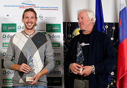 Luka Spik, best rower in 2010 and his coach Milos Jansa during the Slovenia's Rower of the year award ceremony by Rowing Federation of Slovenia, on December 17, 2010 in Hotel Golf, Bled, Slovenia.   (Photo By Vid Ponikvar / Sportida.com)