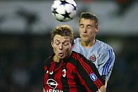 Fotball, 4. november 2003, Champions League,, Club Brugge ( Brügge )-Milan 0-1, Jon Dahl Tomassen, Milan