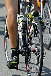08.07.2011, AUT, 63. OESTERREICH RUNDFAHRT, 6. ETAPPE, HAINBURG-BRUCK AN DER LEITHA, im Bild ein Feature mit den Beinen von Matthias Braendle, (AUT, Geox TMC) // during the 63rd Tour of Austria, Stage 6, 2011/07/08, EXPA Pictures © 2011, PhotoCredit: EXPA/ S. Zangrando