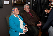ALWEN AHRRIS; ROLF HARRIS; , Fight For Sight evening reception. Philip Mould Gallery. Dover st. London. 3 November 2009