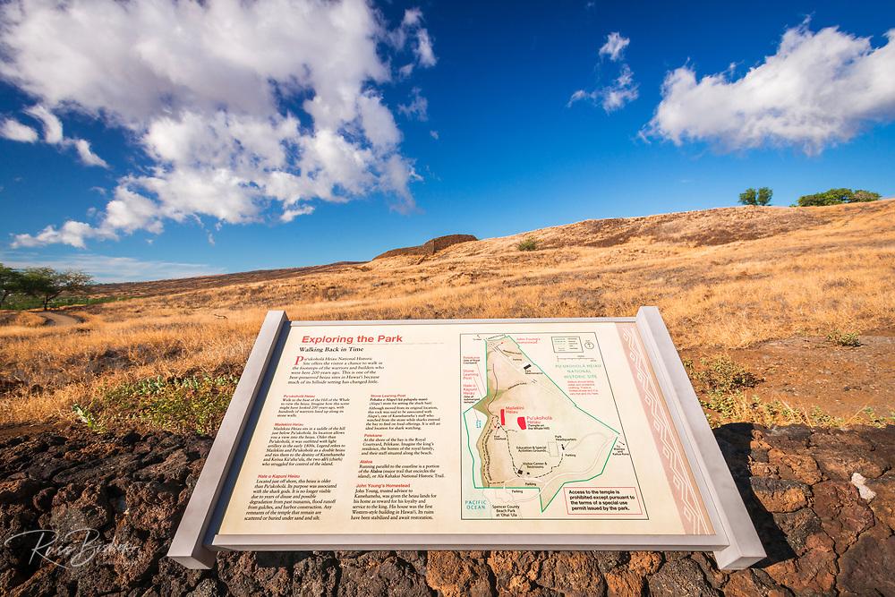 Puukohola Heiau National Historic Site, Kohala Coast, The Big Island, Hawaii USA