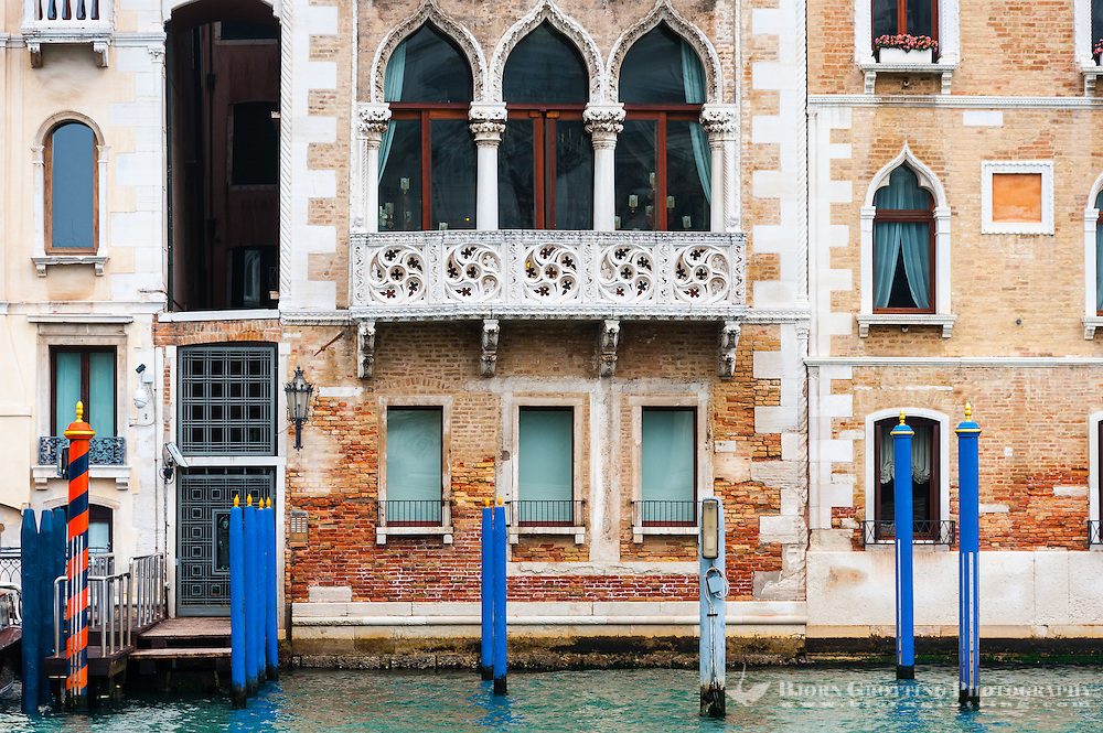 Italy, Venice. Building on Grand Canal.