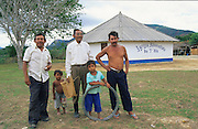 CHRISTIAN ADVENTIST CHURCH, Amazon, near Boavista, northern Brazil, South America. Adventist Christian church with Macuxi indians. Ecological biosphere and fragile ecosystem where flora and fauna, and native lifestyles are threatened by progress and development. The rainforest is home to many plants and animals who are endangered or facing extinction. This region is home to indigenous primitive and tribal peoples including the Yanomami and Macuxi.