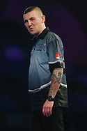Nathan Aspinall looks to the crowd during the World Darts Championships 2018 at Alexandra Palace, London, United Kingdom on 29 December 2018.
