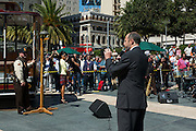 SFMTA Director of Transportation, Ed Reiskin at the 2012 Cable Car Bell Ringing Competition