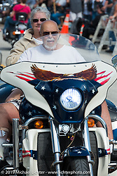Cruising Main Street during Daytona Beach Bike Week, FL., USA. March 9, 2014.  Photography ©2014 Michael Lichter.