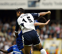 Fotball<br /> England 2005/2006<br /> Foto: SBI/Digitalsport<br /> NORWAY ONLY<br /> <br /> Tottenham v Chelsea<br /> The Barlcays Premiership.<br /> 27/08/2005.<br /> Mido goes up with his elbows on Asier Del Horno and is sent off afterwards