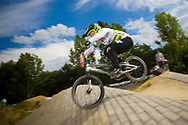 #555 (MCLEOD Melinda) AUS at the 2014 UCI BMX Supercross World Cup in Berlin, Germany.