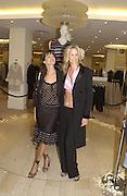 Lisa B and Lisa Butcher. Jimmy Choo concession opening. Harvey Nicholls. London. 10 September 2002 © Copyright Photograph by Dafydd Jones 66 Stockwell Park Rd. London SW9 0DA Tel 020 7733 0108 www.dafjones.com