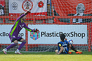 0-1, GOAL scored by Jimmy Keohane of Rochdale during the EFL Sky Bet League 1 match between Accrington Stanley and Rochdale at the Fraser Eagle Stadium, Accrington, England on 10 October 2020.