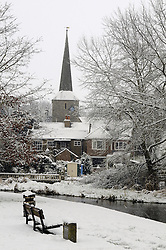 © under license to London News Pictures. .2010,12,12,   Today  (Sunday) .Kent thaws out after the big freeze.  Life gets back to normal after the severe weather of the last two weeks. .St Martins Church,Eynsford, on the 30.11.2010..Picture credit should read Grant Falvey/London News Pictures...