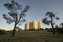 Low angle view of Castel del Monte, Puglia, Italy