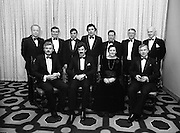 "People Of The Year Awards.1984..26.11.1984..11.26.1984..26th November 1984..The Tanaiste and Minister For Energy,Mr Dick Spring, presented a silver medallion and a scroll to eight men and one woman who were deemed to be ""People of the Year""..The nine were selected by a panel of media editors.The awards were sponsored by New Ireland Assurance,Plc and presented at The Burlington Hotel,Dublin.The winners were:..Mr John Bermingham for his work in rehabilitating the physically and mentally handicapped..Ms Maeve Calthorpe for inspired work with the blind and visually impaired..Mr John Hume for his contribution to peace,democracy and the new Ireland Forum..Mr Patrick O'Connell, for fortitude in the face of grave illness and for fund raising..Drs Prem Puri and Barry O'Donnell,for their contribution to Medical Science..Mr Michael O'Hehir, for his contribution to broadcasting..Mr Fergal Quinn, for dynamic management in the public and private sectors..The special adjudicators award was given to Mr John Parker for his work in revitalising Harland and Wolff shipyard...Picture shows a group shot of The Tanaiste,Mr Dick Spring TD and Mr Kevin O'Donnell,Managing Director,New Ireland Assurance,Plc with the award winners..Front row (L-R),.Mr Patrick O'Connell,Mr Dick Spring,Ms Maeve Calthorpe and Mr John Parker..Back row (L-R),.Dr Barry O'Donnell,Mr Fergal Quinn,Dr Prem Puri,Mr John Hume,Mr Michael O'Hehir,Mr John Bermingham and Mr Kevin O'Donnell."