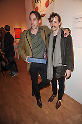 Left to right, brothers WILLIAM BORRELL and JOHNNY BORRELL at the TOD'S Art Plus Drama Party at the Whitechapel Gallery, London on 24th March 2011.