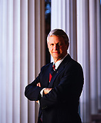Governor Zell Miller (D) at the Georgia Governor's Mansion.