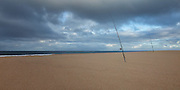 Coastal Fishing on the Beach