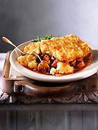 British Food - Cumberland sausages potato pie