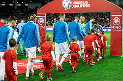 Players of Slovenia coming to pitch during football match between National teams of Slovenia and North Macedonia in Group G of UEFA Euro 2020 qualifications, on March 24, 2019 in SRC Stozice, Ljubljana, Slovenia. Photo by Vid Ponikvar / Sportida