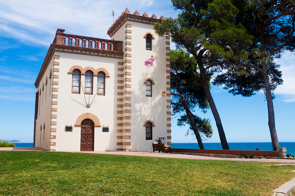 Casa Forestal in Sant Martí d'Empúries, Catalonia. Building for the Hydrological and Forestry Service, constructed in 1910.