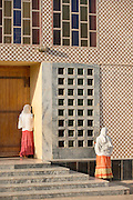 Worshippers at St Mary of Zion Church, Axum. Tigray Region. Ethiopia, Horn of Africa