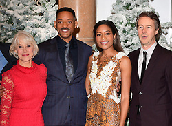 Dame Helen Mirren, Will Smith, Naomie Harris and Edward Norton attending the European premiere of Collateral Beauty, held at the Vue Leicester Square, London.
