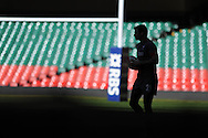 Mike Phillips of Wales during the Wales rugby team captains run at the Millennium Stadium, Cardiff, South Wales on Thursday 20th Feb 2014. pic by Andrew Orchard, Andrew Orchard sports photography.