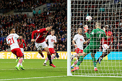 Zlatan Ibrahimovic of Manchester United scores his sides third goal   - Mandatory by-line: Matt McNulty/JMP - 26/02/2017 - FOOTBALL - Wembley Stadium - London, England - Manchester United v Southampton - EFL Cup Final