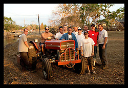 3rd November, 2005. friends and family of Cory Acosta came from as far away as North carolina to help tear out sheet rock, pick up garbage and doo all they can to help people rebuild their lives in Saint Bernard parish just south of New Orleans. Hurricane Katrina caused a 20ft tidal surge to sweep over the land, devastating much of the parish.