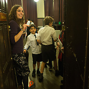 Back stage on the second night running of Lost in the Stars at the Union Chapel, shortly before final call. <br /> <br /> The Highbury Opera Theatre is putting on  a fully-staged London premiere of Lost in the Stars, Kurt Weill's final 1949 musical, with words by Maxwell Anderson, based on Alan Paton's novel Cry, the Beloved Country. The show includes children from Gayhurst Community school in Hackney and schools from London Borough of Islington. The cast is led by South African operatic baritone Denver Martin-Smith and Zimbawean Lucky Moyo, who has toured the world as the lead voice of the popular a capella group Black Umfolozi. The large chorus is anchored by Eclectic Voices. The production is conducted by Scott Stroman and directored by Jean Lacornerie.