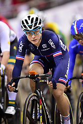 October 21, 2018 - St Quentin En Yvelines, France - Pascale Jeuland (Fra) - Omnium femmes - course Scratch (Credit Image: © Panoramic via ZUMA Press)